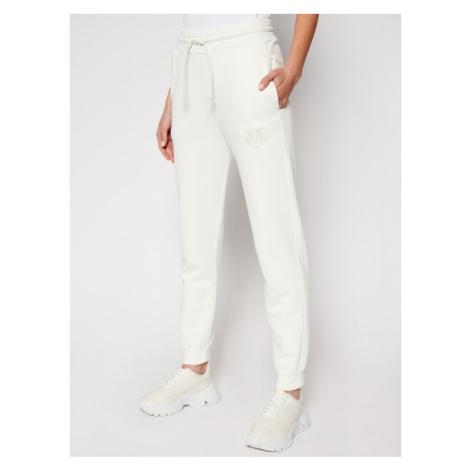 Pinko Spodnie dresowe Carico PE 21 BLK01 1G1638 Y72Z Biały Regular Fit
