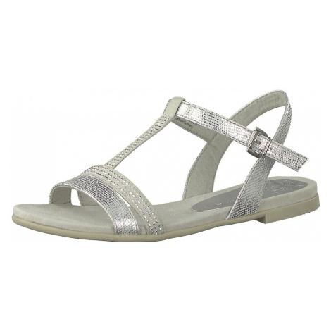 MARCO TOZZI Sandały z rzemykami srebrny