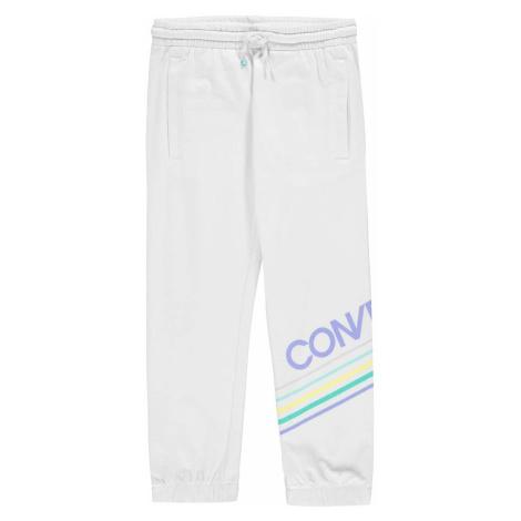 Białe dziewczęce sportowe spodnie
