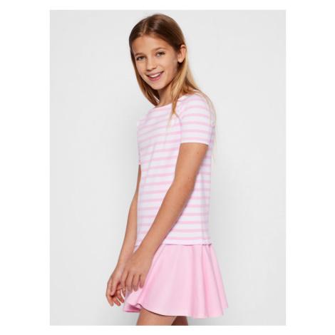 Polo Ralph Lauren Sukienka codzienna Ponte 313765704 Różowy Regular Fit