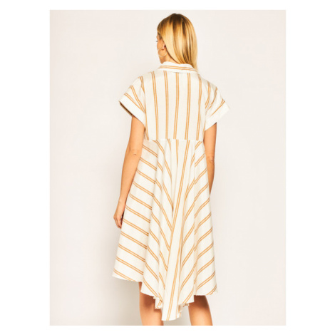 Silvian Heach Sukienka koszulowa Cuanda PGP20506VE Biały Regular Fit