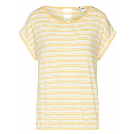 TOM TAILOR Koszulka żółty / offwhite