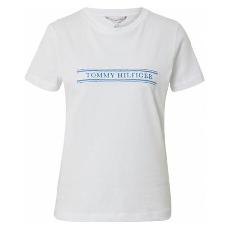 TOMMY HILFIGER Koszulka 'VIOLET' niebieski / biały