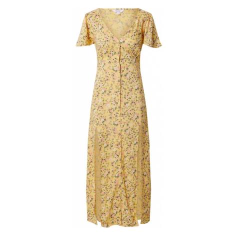 Miss Selfridge Sukienka 'YELLOW BUTTON MIDI DRESS' żółty