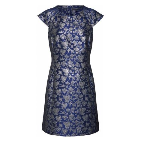 Esprit Collection Sukienka granatowy / srebrny