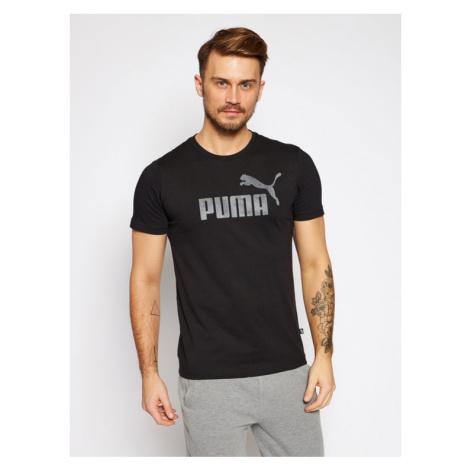 Puma T-Shirt Essentials Logo Tee 582046 Czarny Regular Fit