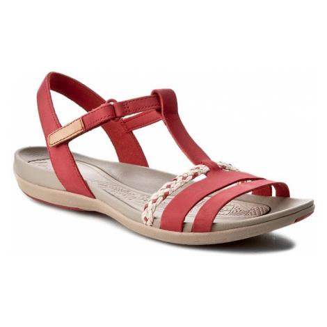 Sandały CLARKS - Tealite Grace 261238924 Red Nubuck