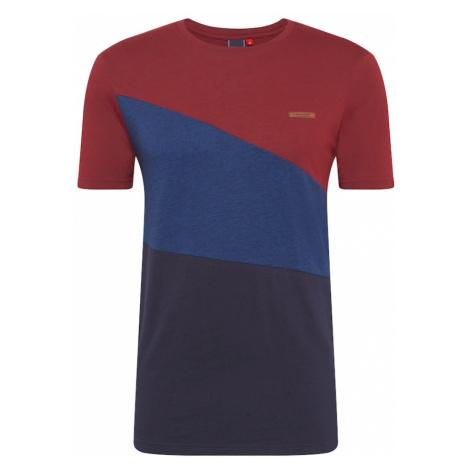 Ragwear Koszulka 'CRUZ' atramentowy / czerwone wino / błękitny