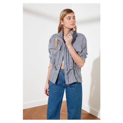 Trendyol Blue Pocket Jacket