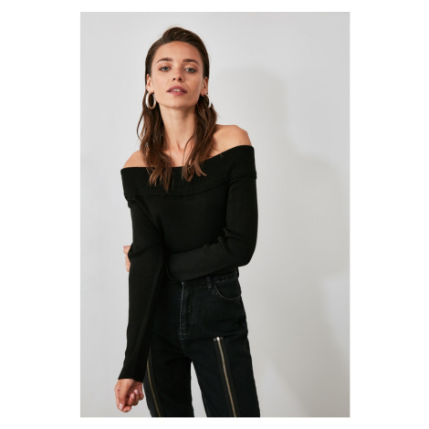 Trendyol Black Carmen Collar Knit Sweater