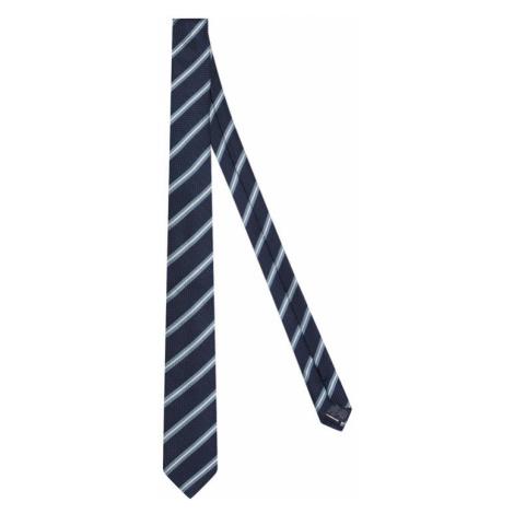 Tommy Hilfiger Tailored Krawat Stripe Blend TT0TT07669 Granatowy