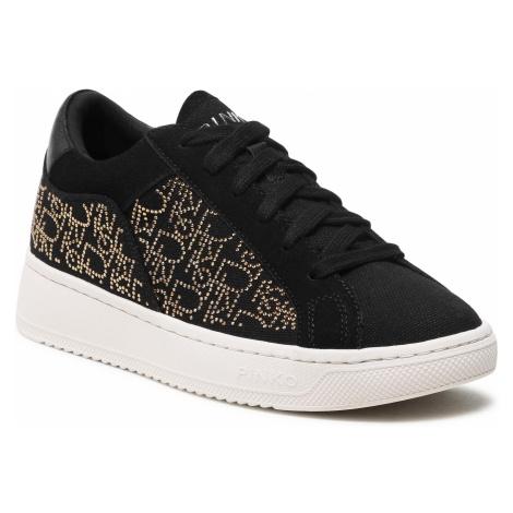 Sneakersy PINKO - Liquirizia Low Top 4 Sneaker PE 21 BLKS 1H20UU Y73B Nero/Oro ZH2