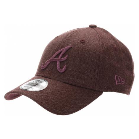 czapka z daszkiem New Era 9FO The League Winterized MLB Atlanta Braves - Heather Maroon