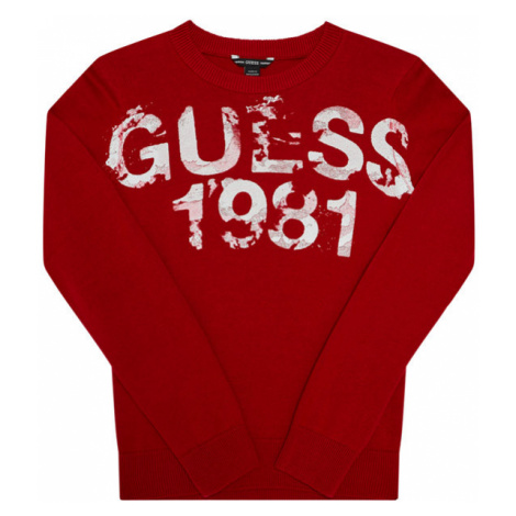 Guess Sweter L0BR00 Z2HH0 Czerwony Regular Fit