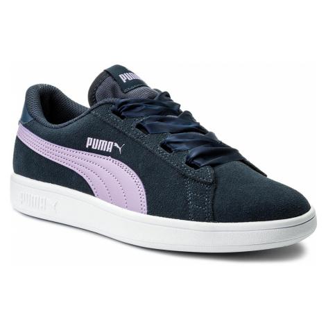 Sneakersy PUMA - Smash V2 Ribbon Jr 366003 03 Sargasso Sea/Purple Rose