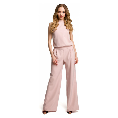Made Of Emotion Woman's Jumpsuit M382 Powder