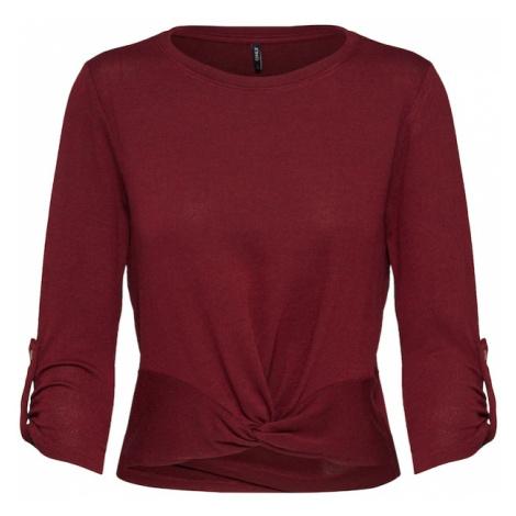 ONLY Koszulka 'TINNA' czerwone wino