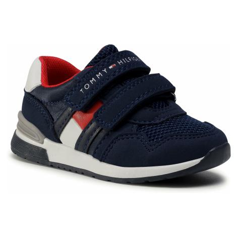 Sneakersy TOMMY HILFIGER - Low Cut Velcro Sneaker T1B4-30481-0732 M Blue 800