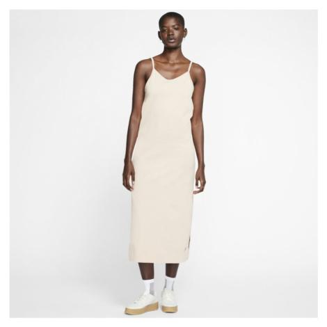 Damska sukienka z dżerseju Nike Sportswear - Brązowy