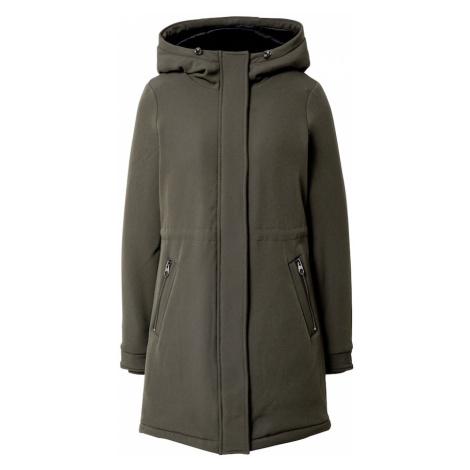 VERO MODA Płaszcz zimowy ciemnozielony