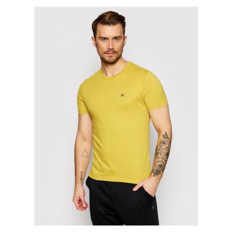 Napapijri T-Shirt Salis C SS NP0A4EW8 Żółty Regular Fit