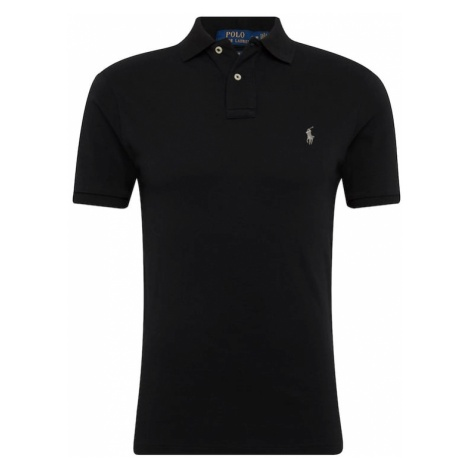 POLO RALPH LAUREN Koszulka 'SS SLIM FIT-SHORT SLEEVE-KNIT' czarny
