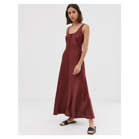 Whistles pippa satin slip MIDI dress