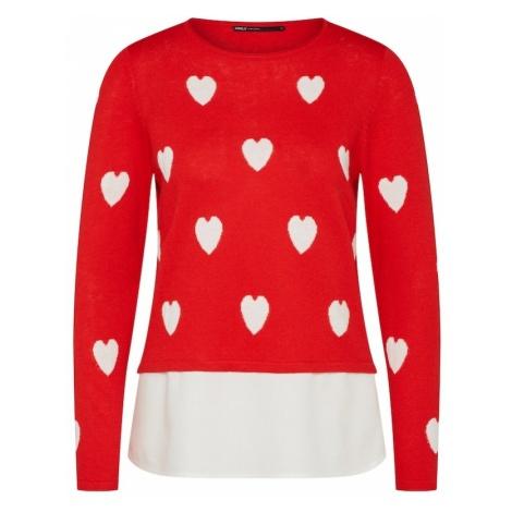 ONLY Sweter czerwony / biały