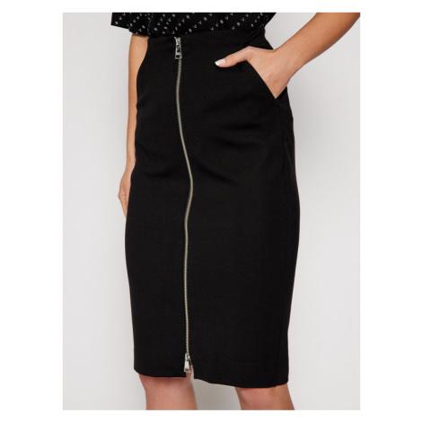 KARL LAGERFELD Spódnica ołówkowa Punto 206W1203 Czarny Slim Fit