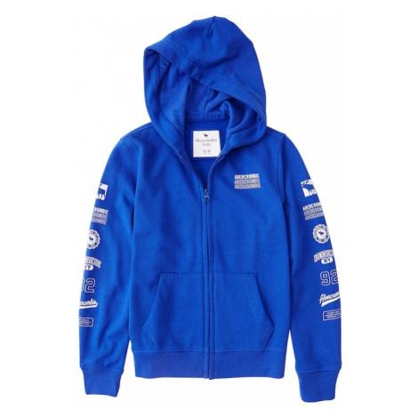 Abercrombie & Fitch Bluza rozpinana niebieski / biały