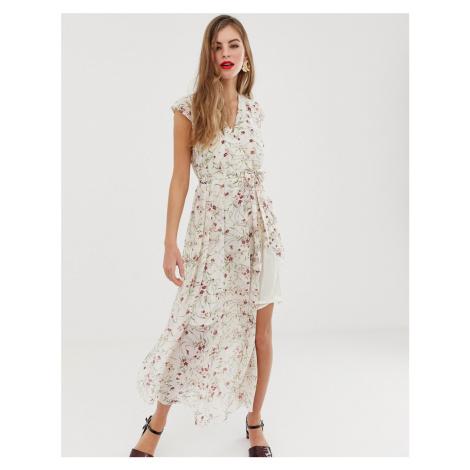 Y.A.S Vigga floral belted maxi dress