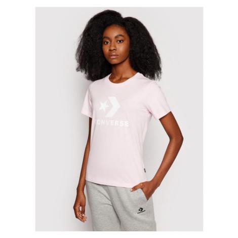 Converse T-Shirt Star Chevron 10018569 Różowy Standard Fit