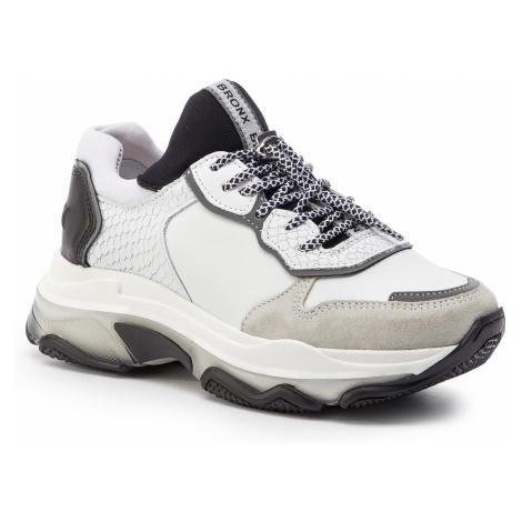 Sneakersy BRONX - 66167D-CA BX 1525 Light Grey/White/Black 3063
