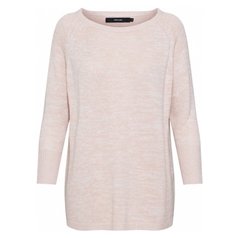 VERO MODA Sweter różowy pudrowy