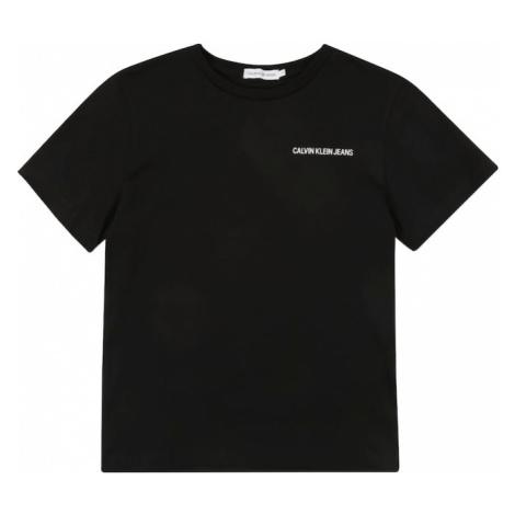 Calvin Klein Jeans Koszulka 'CHEST LOGO REGULAR T' czarny