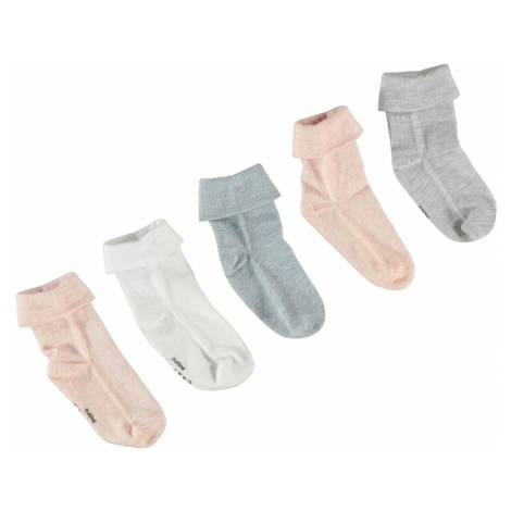 Crafted Essentials 5 Pack Marl Socks Infant Girls