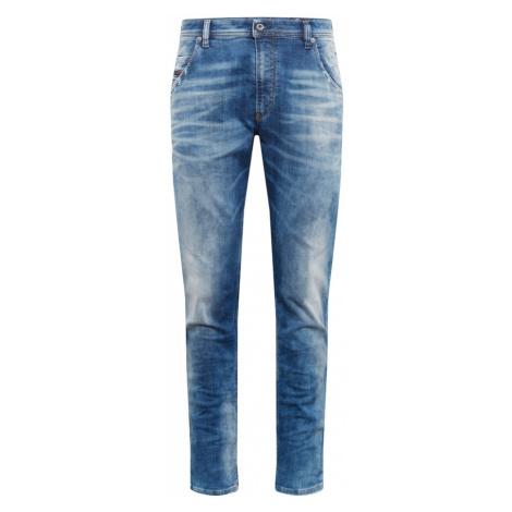 DIESEL Jeansy 'KROOLEY-T Sweat jeans' niebieski denim