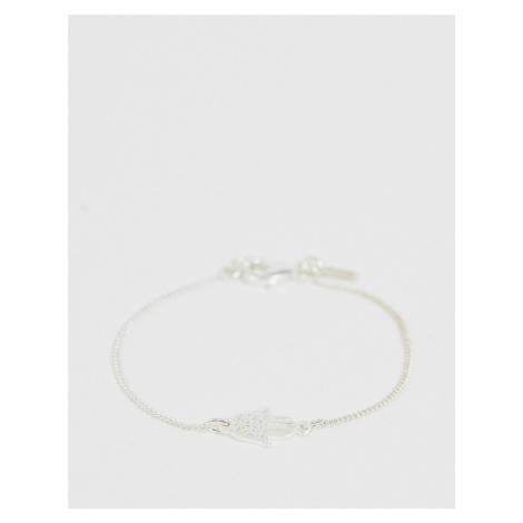 Pilgrim silver plated hansa bracelet