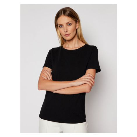Weekend Max Mara T-Shirt Multib 59710217 Czarny Regular Fit