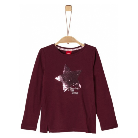S.Oliver Junior Koszulka jasnoróżowy / krwistoczerwony / srebrny