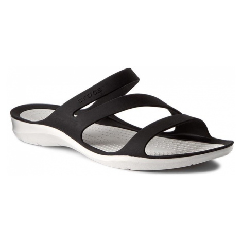 Klapki CROCS - Swiftwater Sandal W 203998 Black/White