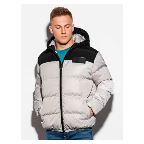 Ombre Clothing Men's winter quilted jacket C458