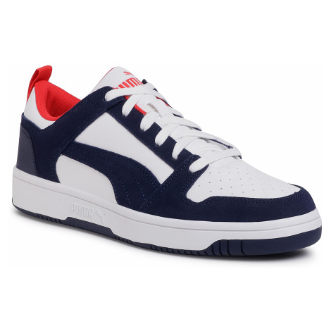 Sneakersy PUMA - Rebound LayUp Lo Sd 370539 05 Puma White/Peacoat/Red