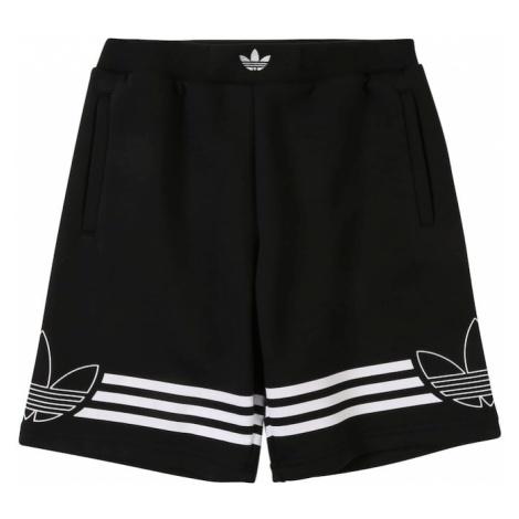 ADIDAS ORIGINALS Spodnie 'OUTLINE SHORTS' czarny / biały