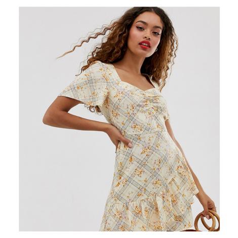Miss Selfridge Petite ruffle tea dress in floral print
