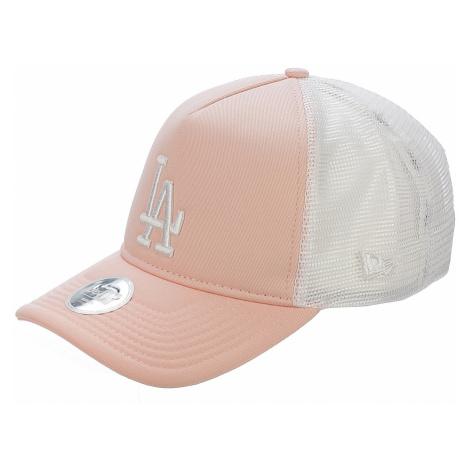 czapka z daszkiem New Era 9FO League Essential Trucker MLB Los Angeles Dodge - Pink/White