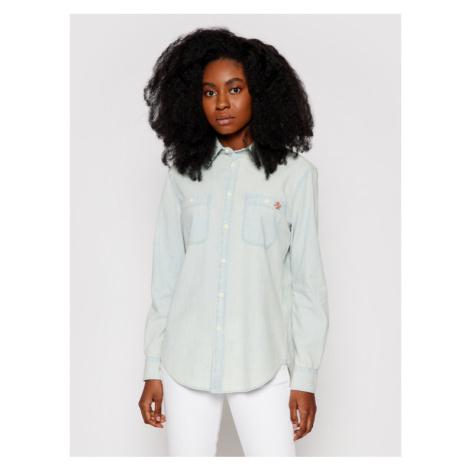 Polo Ralph Lauren Koszula Lsl 211784196001 Niebieski Regular Fit
