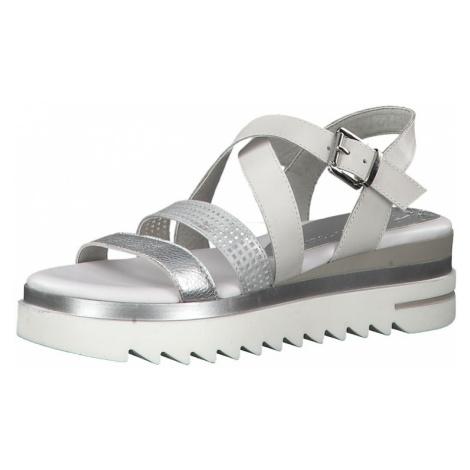 MARCO TOZZI Sandały srebrny / biały