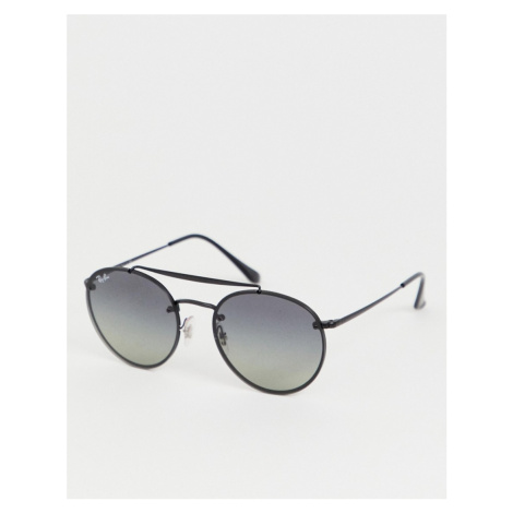 Ray-Ban 0RB3614N round sunglasses with double brow