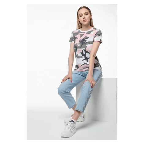 Koszulka Alpha Industries New Camo Basic T Wmn 492 Pink Camo